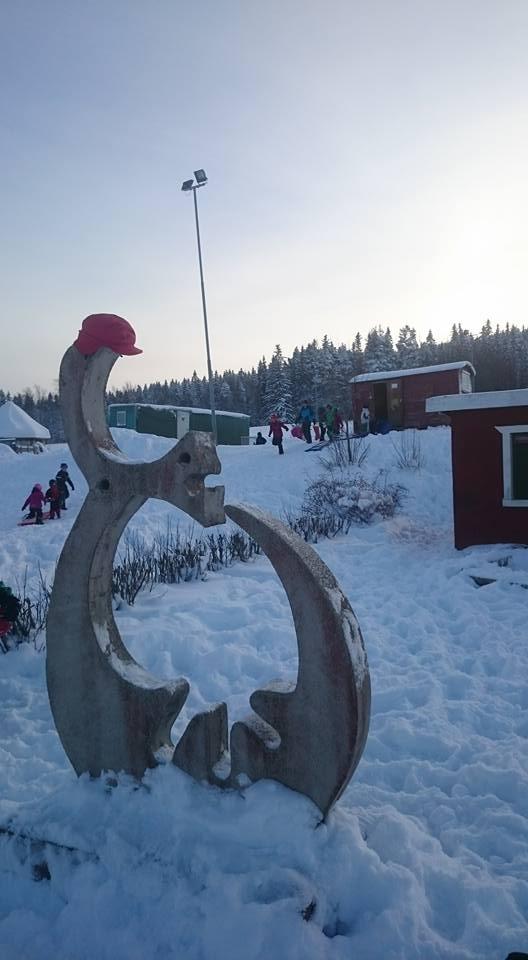 skolgården vinter